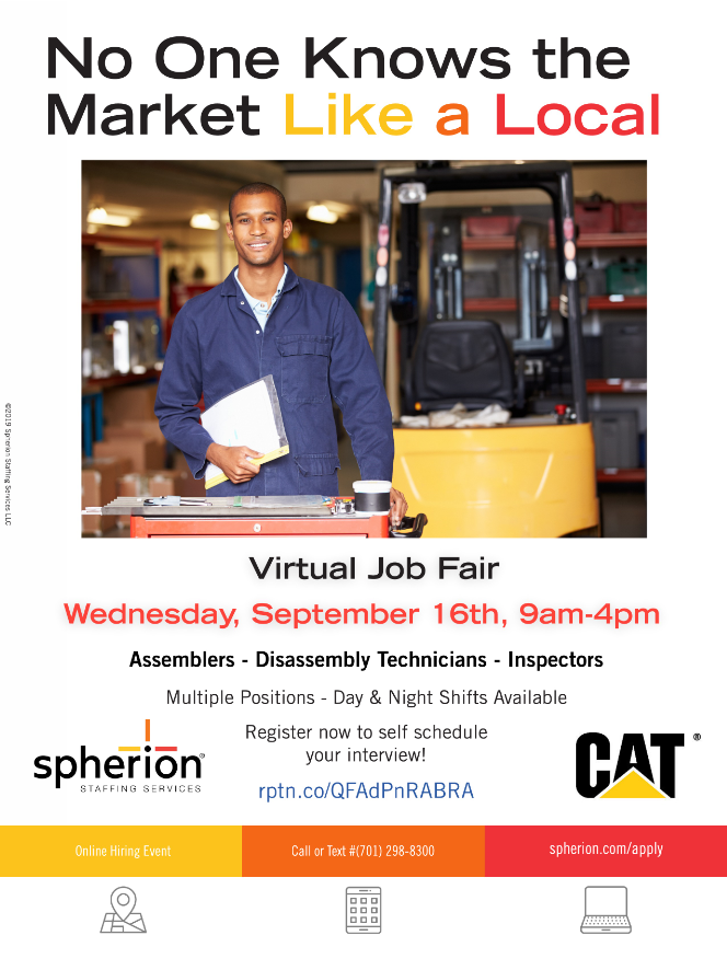 Spherion Virtual Job Fair, Sept. 16, 9am to 4pm