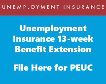 File for PEUC 13 week extension of benefits